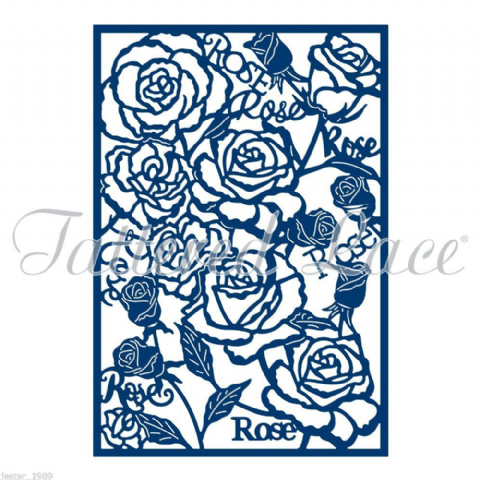 Tattered Lace Essentials - Rose Panel Die - ETL127